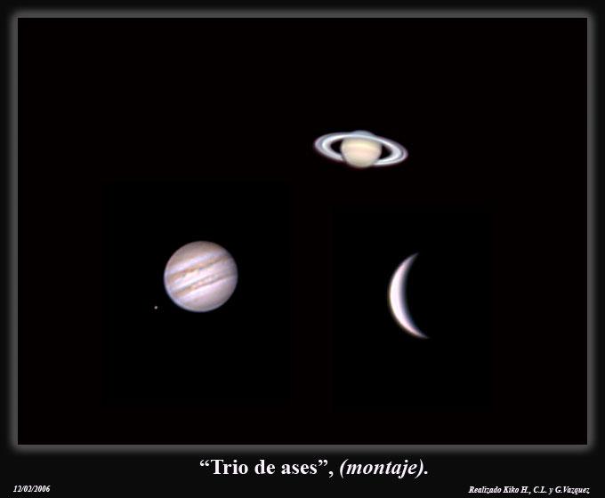 Venus y Saturno en su mejor show